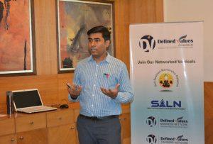 Dr S Ranjan lecturing at DVC Gurgaon